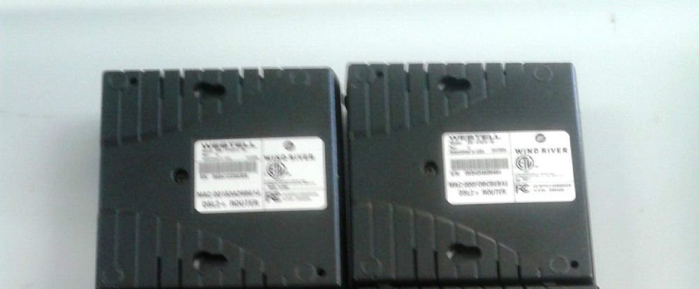 2 (two) - Westell Wind River 6100 DSL2 modem USB B90 610030 06 ethernet internet
