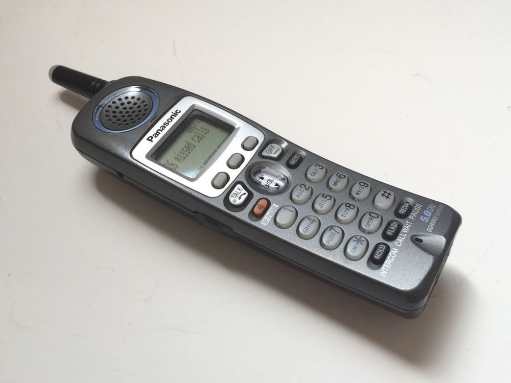 KX TGA650B Panasonic handset - TG6500 phone 5.8 GHz black telephone cordless