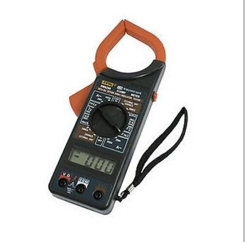 GRIP 20237 Digital Clamp Meter MULTI TESTER model DT DM 266 6266 w/leads case