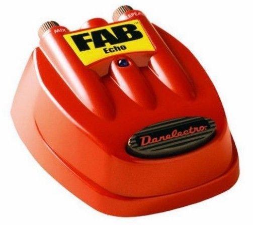 DANO Danelectro D4 FAB ECHO guitar stomp effects pedal metal electric w/DC POWER