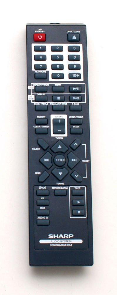 SHARP Remote Control RRMCGA205AWSA - iPod USB CDDH899N CDDH790N audio system CD