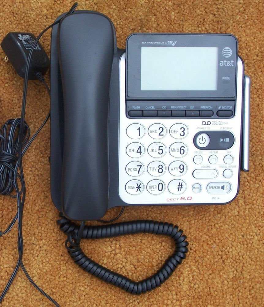 AT T CL84100 telephone - digital answering machine speaker phone big LCD screen