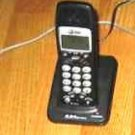 AT&T E5643B handset & remote base w/PSU cordless ATT tele phone charger charging