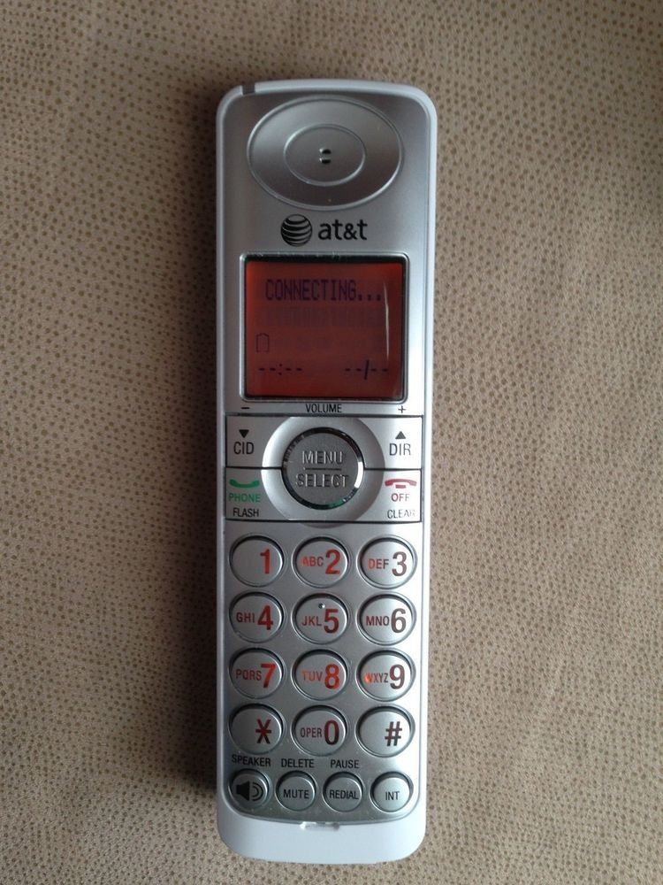 AT&T CL81219 HANDSET only - cordless ATT tele phone charger charging wireless