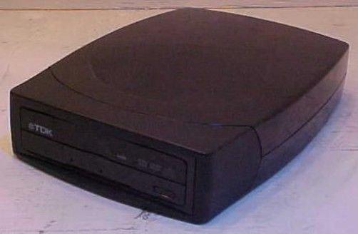 TDK DED+440 External Multi-Format DVD R/W Drive unit console - NO POWER CORD