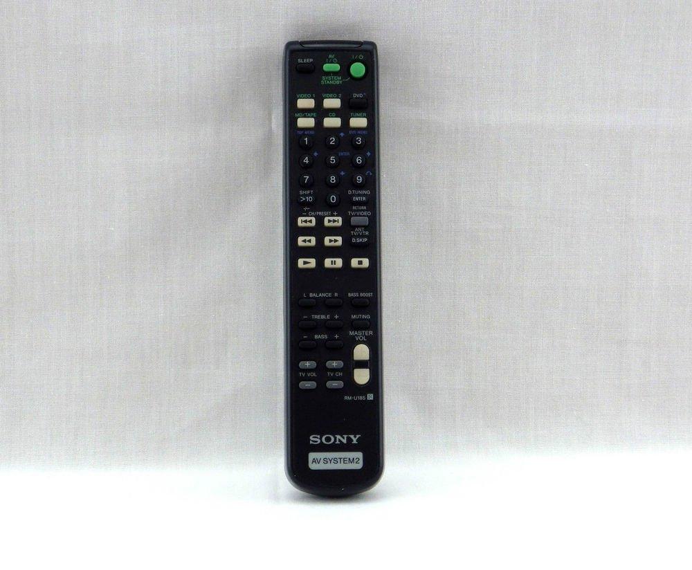 SONY RM U185 REMOTE CONTROL CD DVD player RMU185 STR DE182 STR DE185 STR DE197