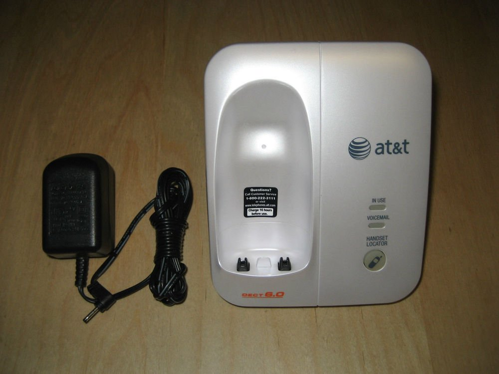 AT&T EL51359 MAIN CHARGER BASE w/PSU cordless phone ATT cradle stand wireless ac