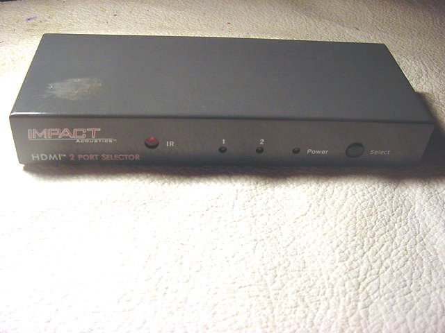IMPACT ACOUSTICS HDMI video digital selector TV Switch television device control