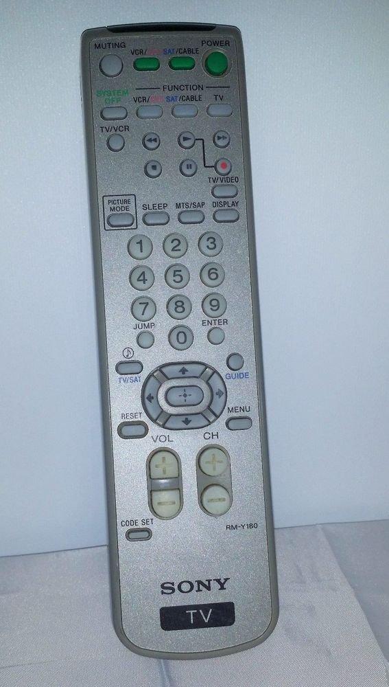 Sony RM Y180 Remote Control KV 27FS100 27FS100L 32FS100 32FS200 36FS100 36FS17