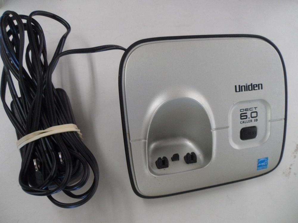 Uniden D1660 main charger base w/PS - handset phone charging power cradle stand