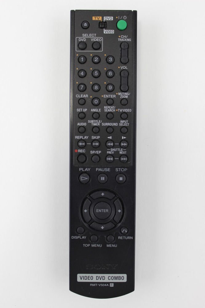 Sony RMT V504A Remote Control DVD VCR combo player SLV D281P SLV D380P SLV D100