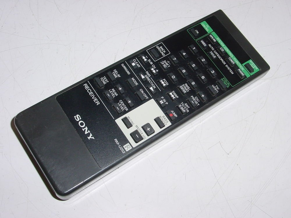 SONY RM U252 REMOTE CONTROL STRD565 STRD600 STR665 STRD800SS tv video receiver