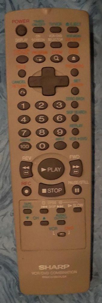 SHARP RRMCG1293AJSA VCR DVD TV REMOTE CONTROL = DV NC55 NC55C NC55H NC55M NC55U