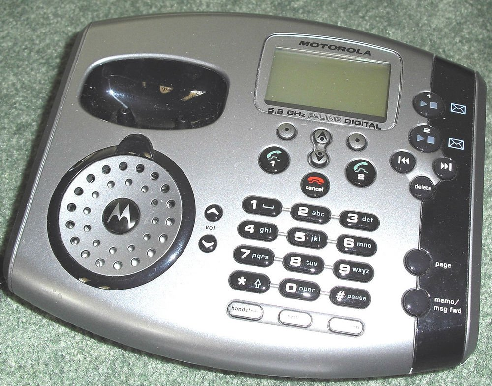 Motorola MD7081 main base stand w/P - cordless phone handset MD 7000 7001 5.8GHz