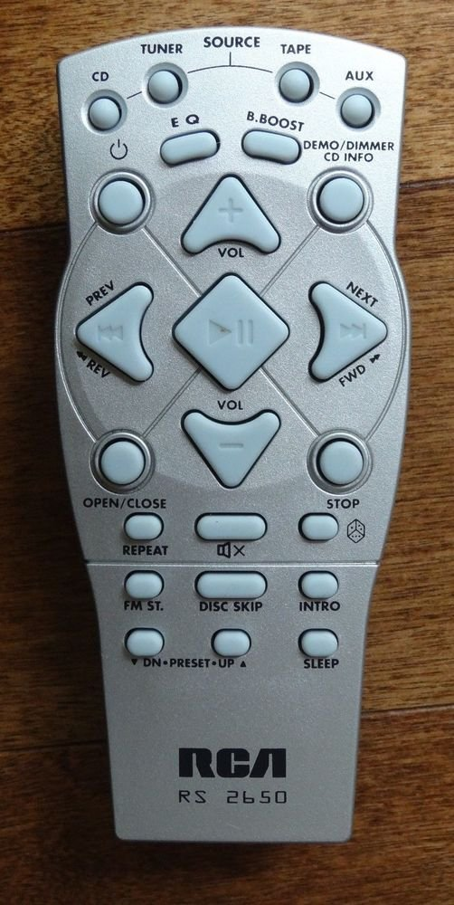 RCA RS 2650 remote control = RS3532 RS3531 RS2635 RS2614 RS2650B stereo CD tuner