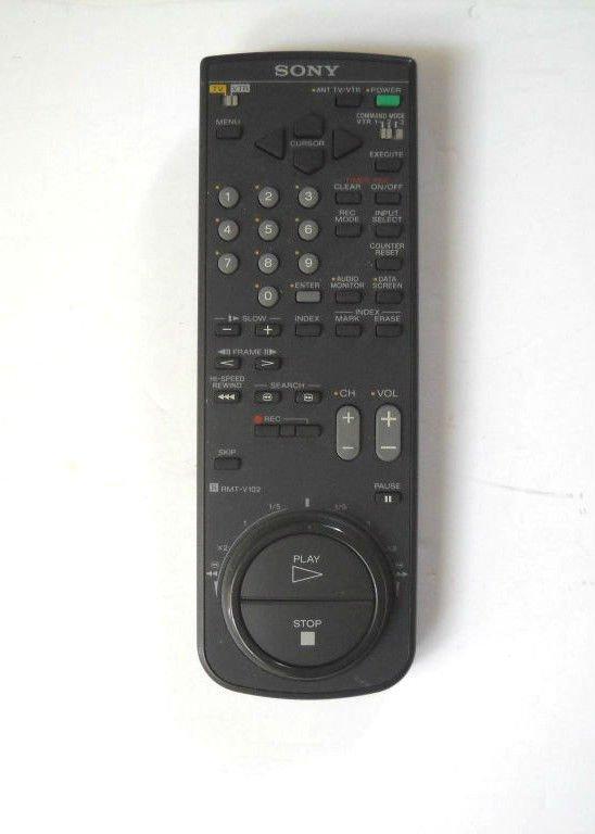 Sony RMT V102 remote control - SLV 71HF SLV 585HF SLV 589HF SLV 686HF TV VTR VCR