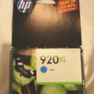 920XL CYAN ink jet HP OfficeJet 6000 6500 7000 printer CD973AN cartridge blue
