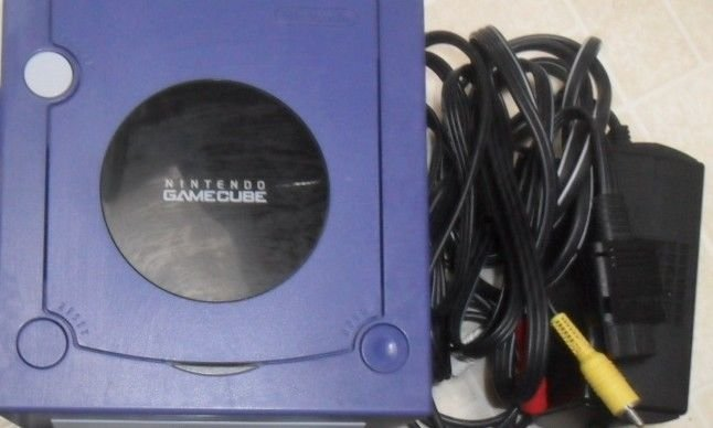 Game Cube system console video TV power fun unit w/power cables - NO CONTROLLER
