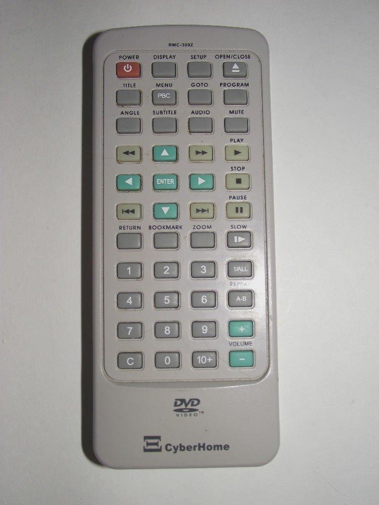 Cyber Home RMC 300 Z REMOTE CONTROL player CH dvd 320 RMC300 U216 LN 3002 video