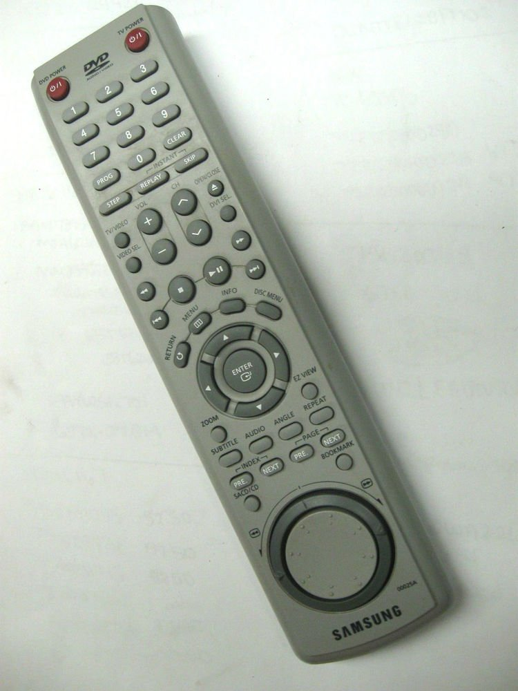 Samsung 00025A Remote Control - player TV DVD HD841 XAA DVD HD747 DVD HD941