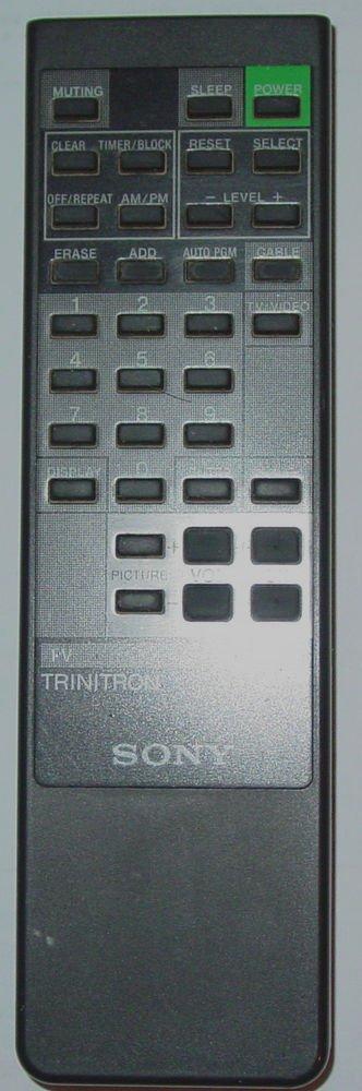 SONY REMOTE CONTROL RM 781 - Trinitron TV KV 13TR24 20TR22 19TR20 cable video