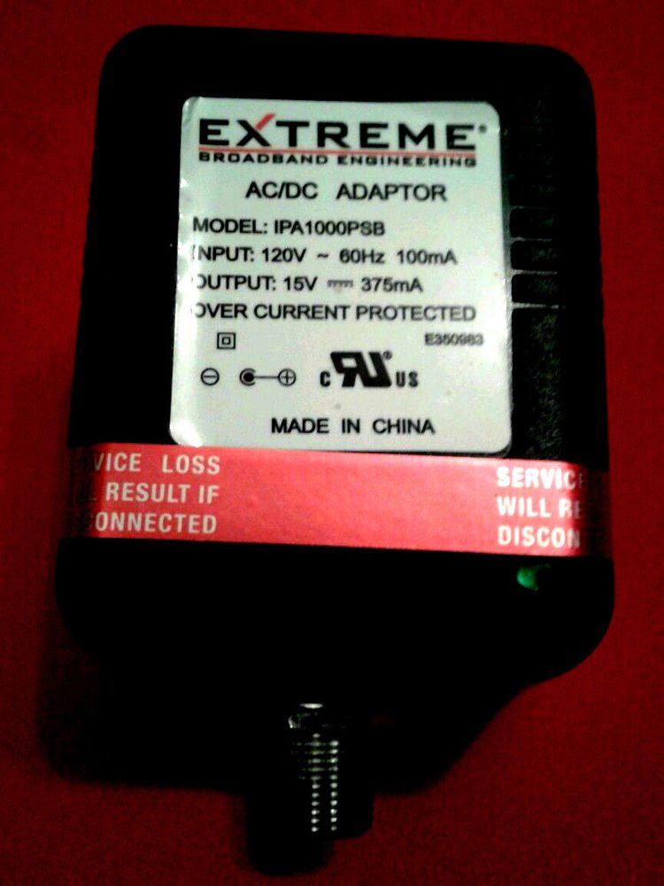 15v adapter cord EXTREME cable IPA100PSB IPA1000PSB plug electric PSU ac dc wall