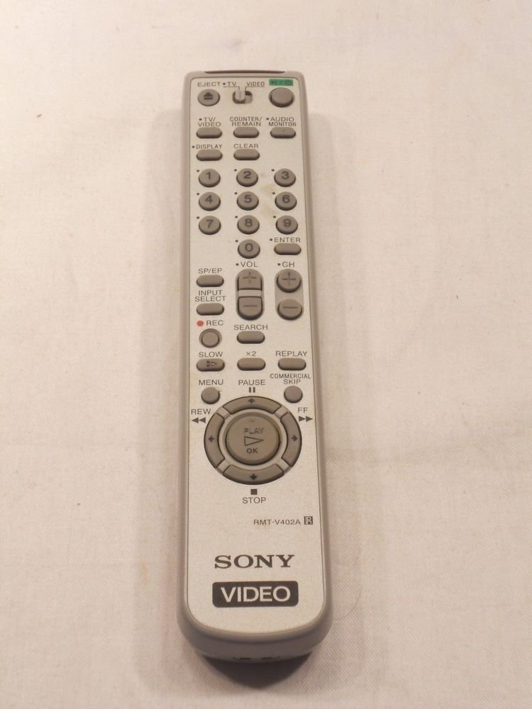 SONY RMT V402A REMOTE CONTROL - VHS VCR TV VIDEO SLV N650 SLV N750 N500 N55 N77
