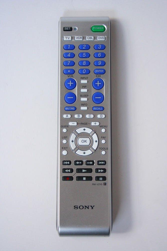 Sony RM V210 R REMOTE CONTROL = TV VCR CABLE DVD Audiovox VIZIO Sharp Emerson