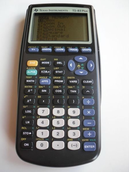 TEXAS INSTRUMENTS TI 83 PLUS GRAPHIC CALCULATOR TI83+ GRAPHING pocket electronic