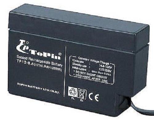 ToPin 12v rechargable lead acid battery TP12 0.8 AH - warning home alarm system