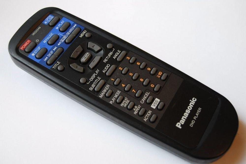 genuine original Panasonic remote control VEQ2249 - DVDA120U DVDA115U DVDA112U