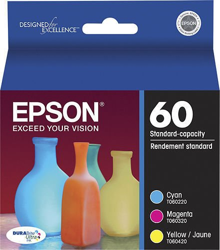 Epson T060 color Ink 3 pack CX3800 4200 4800 5800F 7800 C68 88 printer TO60 520