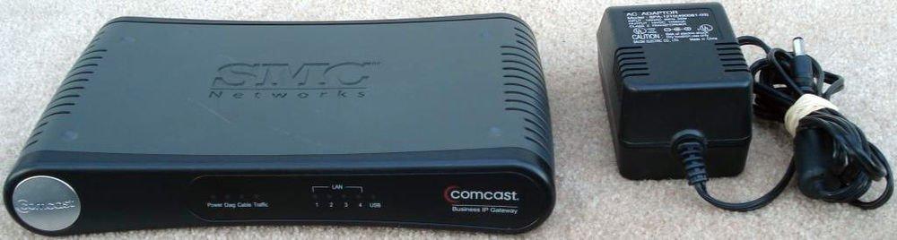 SMC Networks SMC8014 COMCAST CABLE MODEM ROUTER GATEWAY coaxial 4 port computer