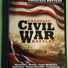 Greatest Civil War Battles 4 Disc boxed DVD little big horn manassas 2009 new
