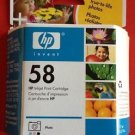 58 photo color ink HP PSC 2510 2410 2210 2175 2110 1350 printer scanner copier