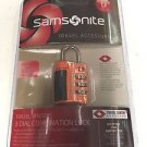 new Samsonite orange Combination Lock TSA airport accepted luggage baggage new