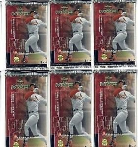 6 new baseball PACKs - 1999 UPPER DECK MVP game used jersey souvenirs autographs