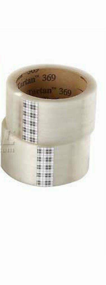 "CLEAR TAPE - NEW 2 Rolls 3M 369 Tartan 1.88"" wide x 109 yds box carton packing"