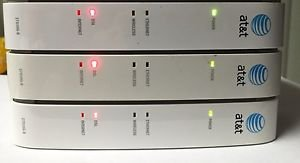 x3 - AT T 2WIRE 2701HG B Gateway WIRELESS modem ROUTER DSL WiFi ethernet 4port
