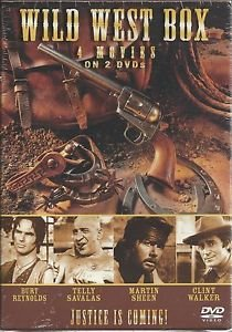 new - Wild West DVD Box - 4 movies 2 disc Robert SHAW Burt RENOYLDS Clint WALKER