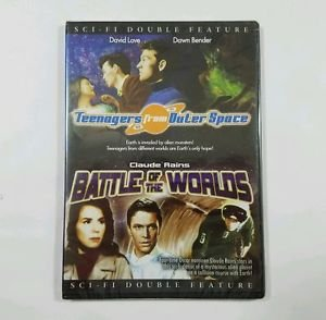 B&W DVD Teenagers From Outer Space David LOVE Battle Of The Worlds Claude RAINS