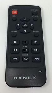 DYNEX D052 Remote Control - DVD console player model DX DVD2 or DXDVD2