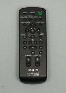 Sony RM AMU009 Remote Control - CMT BX20i CMT FX300i MHC EC909iP MHC EC98P EC99i