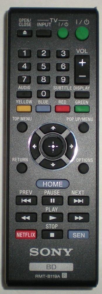 Sony RMT B119A Remote Control BD TV Blu RAY BDP S580 S1100 S3100 BDP BX310 BX510