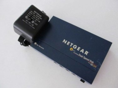 DS104 Bay Networks NETGEAR Dual Speed Hub ethernet switch 10/100 MBPS 4port