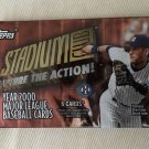 new sealed PACK Topps 2000 Stadium Club Capture The Action One baseball RELICS