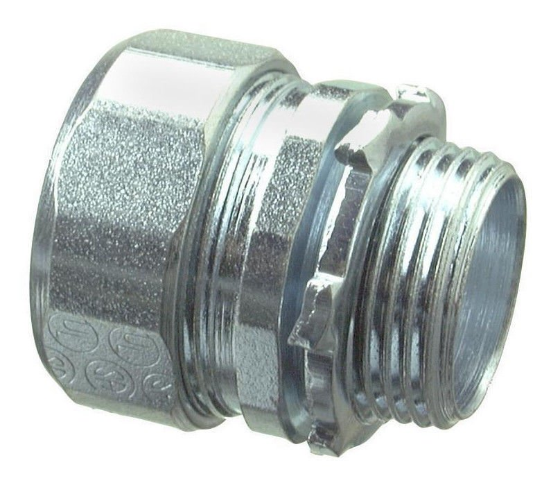 """1 1/2"""" outside threaded steel Compression Connector galvanized tube fitting inch"""