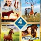 4movie DVD Wild Stallion King Wind Dancer Stable Days Nicholas & Pamela GUEST