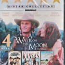 4movie DVD A Walk on the Moon,KANSAS,Silk Hope,Nothing Too Good For A Cowboy