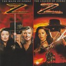 2movie color DVD The Mask of Zorro & The Legend of Zorro Catherine Zeta Jones
